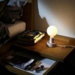 Posaluce avec MINI-UFO collection READING BALLSH*T mod. GUERRA&PACE+MEGLIO DEL FILM, avec câble, interrupteur et fiche à 2 pôles