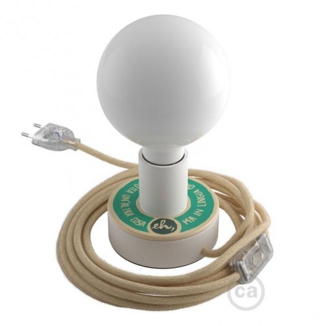 Posaluce avec MINI-UFO collection READING BALLSH*T mod. COPERTINA+LINGUA ORIGINALE, avec câble, interrupteur et fiche à 2 pôles